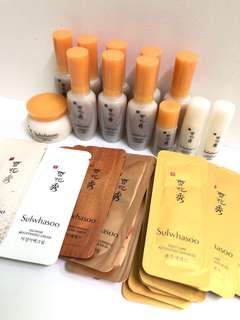[試用裝] sulwhasoo 雪花秀 First care serum 潤燥精華 / brightening cream 面霜 / innerise serum / firming cream / concentrated cream sample