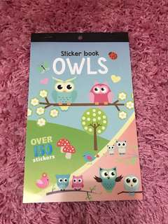Owls Stickers Booklet