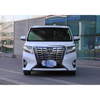 Toyota Alphard For Rent with FREE Driver- Cebu City