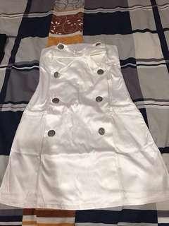 White dinner tube dress