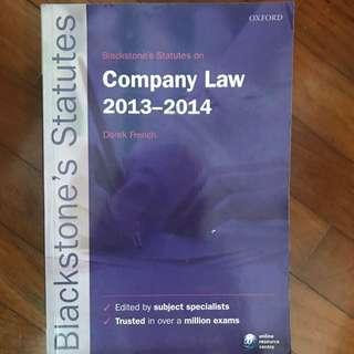 Blackstone's Statutes Company Law 2013-2014