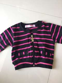 SNOOPY striped jacket