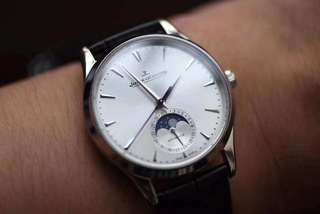 Jaeger-LeCoultre Ultra Thin Moon Phase Silver Dial ( Swiss JLC 925 )