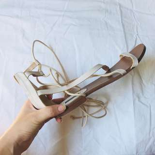 Mango Lace Up Gladiator Sandals