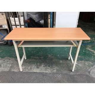 東鼎二手家具 全新 木紋檯面1.5x4尺 折合會議桌*辦公桌*洽談桌*開會桌*工作桌*電腦桌*事務桌*主管桌*書桌