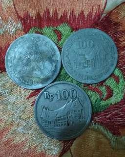 Uang logam jadul seratus tahun 1973-1978