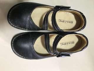 Polo black leather shoe size 38