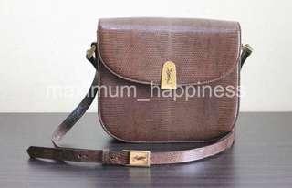 Rare Authentic YSL Lizard Leather Box Bag