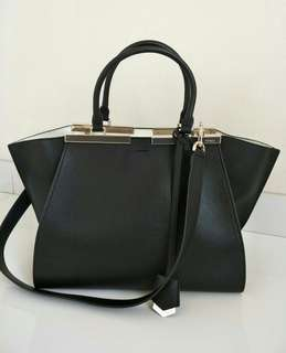 Excellent Preloved Authentic Fendi 3jours Black
