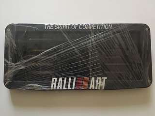 Ralliart Plate Number Holder
