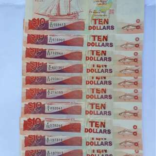 $10 Singapore Currency