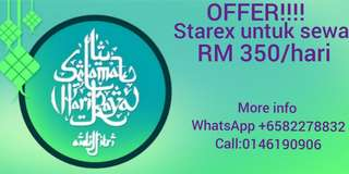 HYUNDAI STAREX RENTAL OFFER