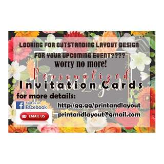 PERSONALIZED INVITATION CARDS