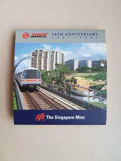 SMRT 10th Anniversary Medallion 1987-1997 (The Singapore Mint)