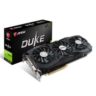 MSI GeForce Gaming GTX 1080 Ti DUKE 11GB OC GTX 1080Ti GDRR5X DirectX 12 352-bit VR Ready Graphics Card ( 3 yrs Local Warranty )