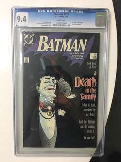 Batman #429 CGC 9.4 Death in the Family DC Comics
