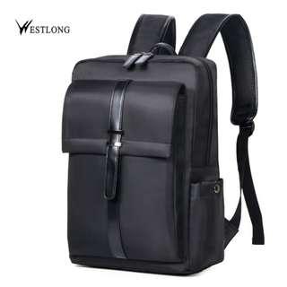 Westlong Korean fashion Canvas computer backpack bag #3T98