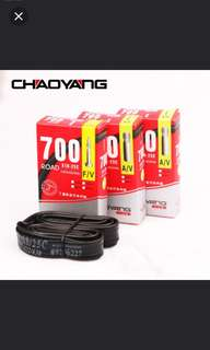 In stock! Chaoyang Tire Road Bicycle tube 700*18/25C  700C bicycle inner Tube/road bike tube