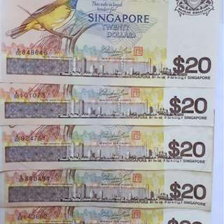 $20 Singapore Currency