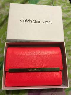 Authentic/orig soft leather calvin klein wallet