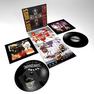 "Guns N Roses Appetite for Destruction Pre-order 12"" double LP 180gm sealed original USA pressing"