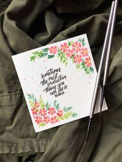 Floral Calligraphy Cards