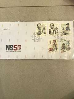 NS 50 envelope with stamps