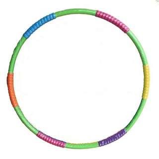 呼拉圈2斤環狀橡膠泡棉鐵管呼拉圈直徑97cm