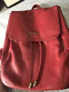 Back pck savvy leather