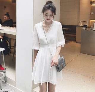 Sweet White/Red Dress