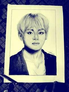 BTS V(taehyung) sketch