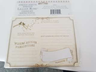 Wedding well wishes cards (144 cards)
