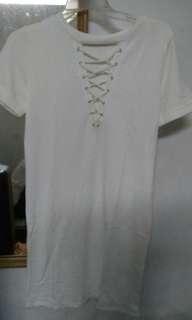 White dress Bershka