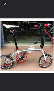 "Brand New Rifle Vintage Foldable bike/ foldi 14"" (3 speed)(special design)(light weight)"