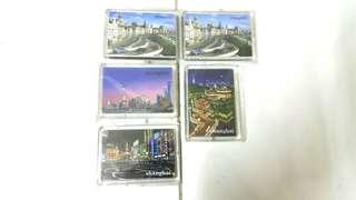 Shanghai City Magnetic Fridge Sticker
