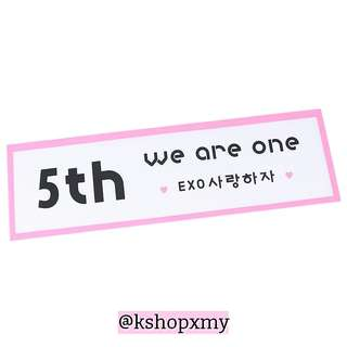 EXO Group Hand Banner