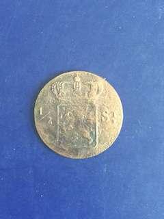 Netherlands indie 1/2 ST year 1826, Vf