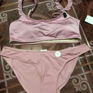 Cotton On two piece swimsuit rose pink