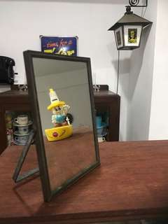 Vintage China Square Mirror
