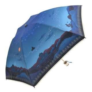Japan Disneystore Disney Store Aladdin Fantasy Night Folding type Umbrella