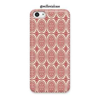 Premium chinese motif red hard/softcase(bs custom design)