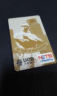 Uob stamford raffles ezlink + nets flashpay card