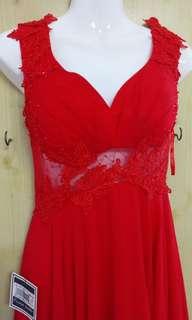 紅色長禮服
