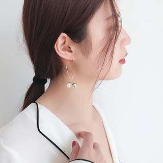 Korea Pearl Long Elegant Earring