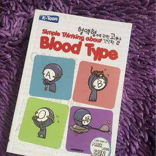 Simple Thikning about Bloodtype (komik)