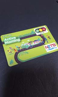 One north active morning ezlink + nets flashpay card