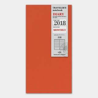 [DISCOUNT] Traveler's Company 2018 Refill Diary Monthly