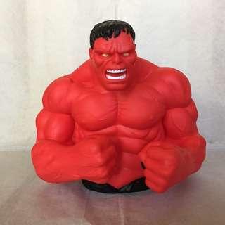 Marvel Comics Red Hulk Bust Bank