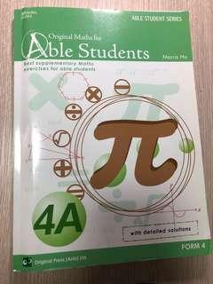 全新Original Maths for Able Students 4A