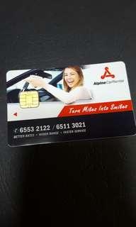 Alpine car rental Cashcard
